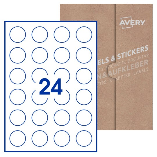 O 37mm Round Avery Blank Labels Avery