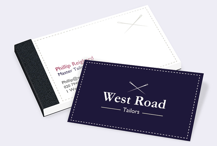 Slim Double Sided Business Card Pad