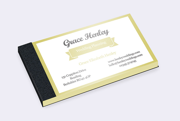 Slim Single Sided Business Card Pad