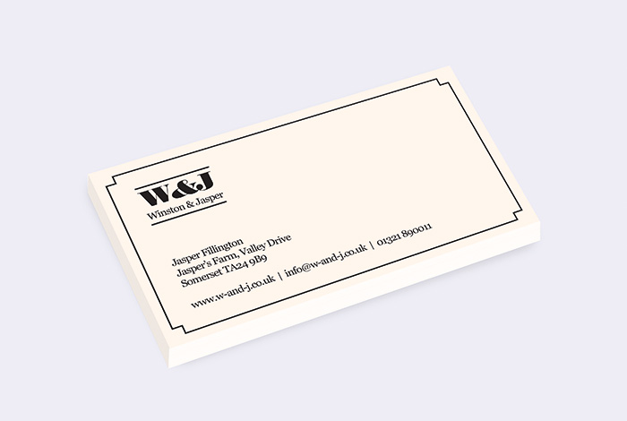 Slim Single Sided Business Card