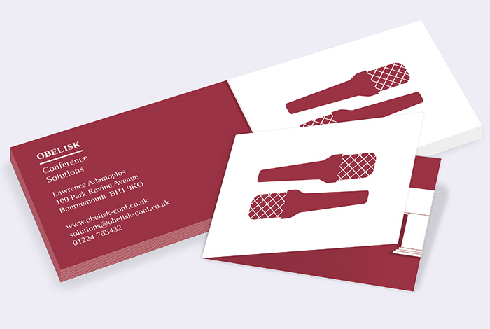Standard Double Sided Folded Business Card