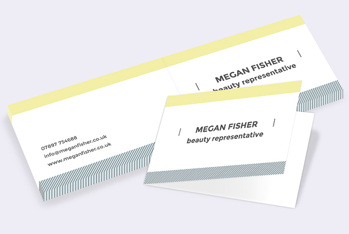 Standard Single Sided Folded Business Card