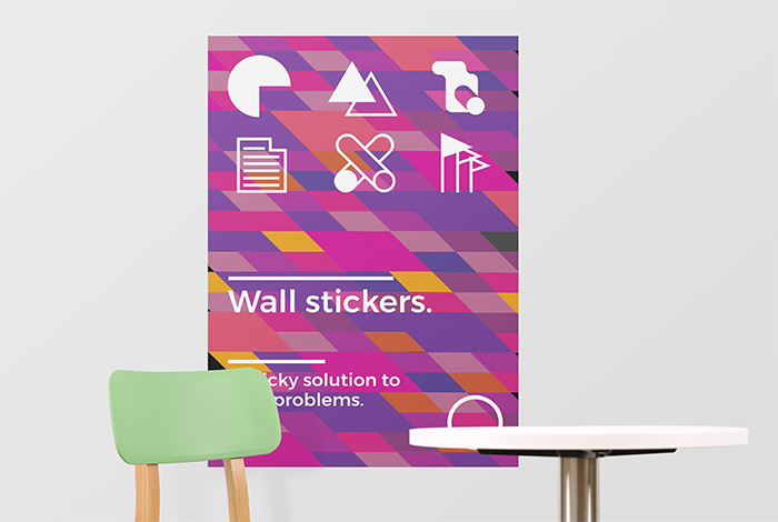 A1 Removable Rectangle Wall Sticker