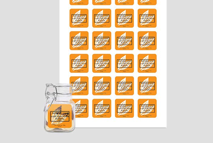Clear Labels Square 37 x 37mm Gloss Finish