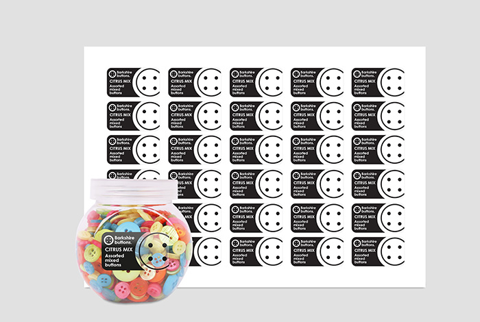 Clear Labels Rectangle 45.7 x 25.4mm Gloss Finish