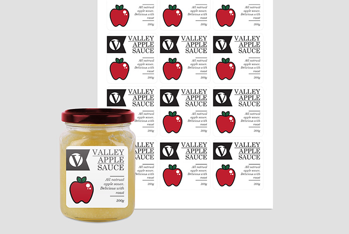 Waterproof Labels Square 60 x 60mm Gloss Finish