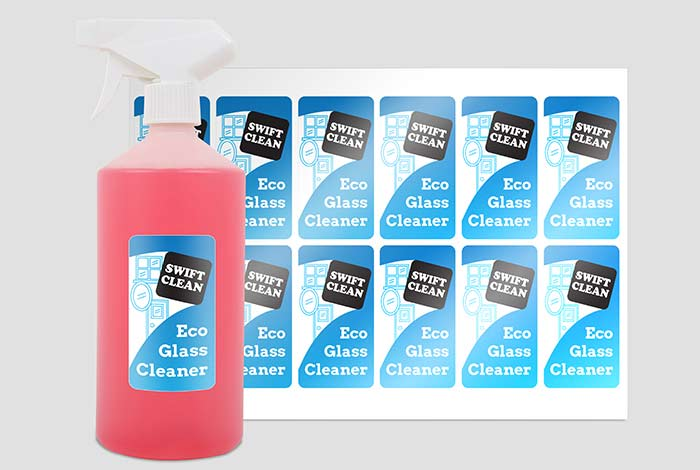 Clear Labels Rectangle 80 x 45mm Gloss Finish