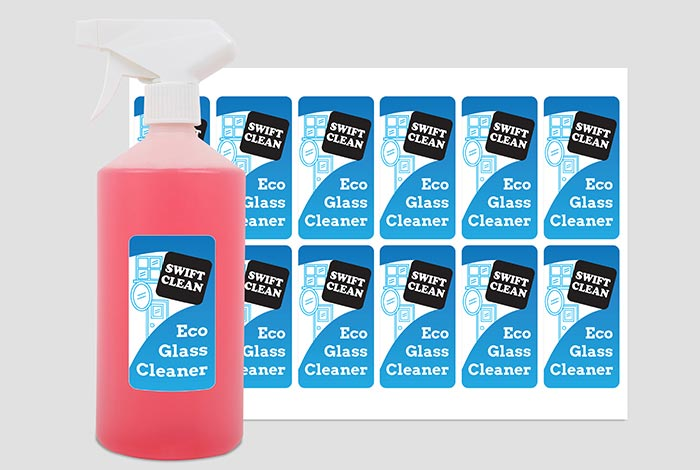 Plastic Labels Rectangle 80 x 45mm Matt Finish