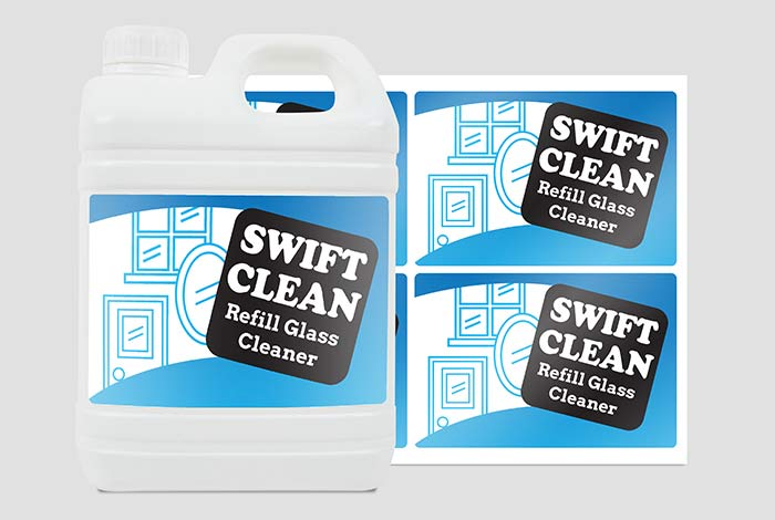 Clear Polypropylene Labels Rectangle 94 x 140mm Gloss Finish