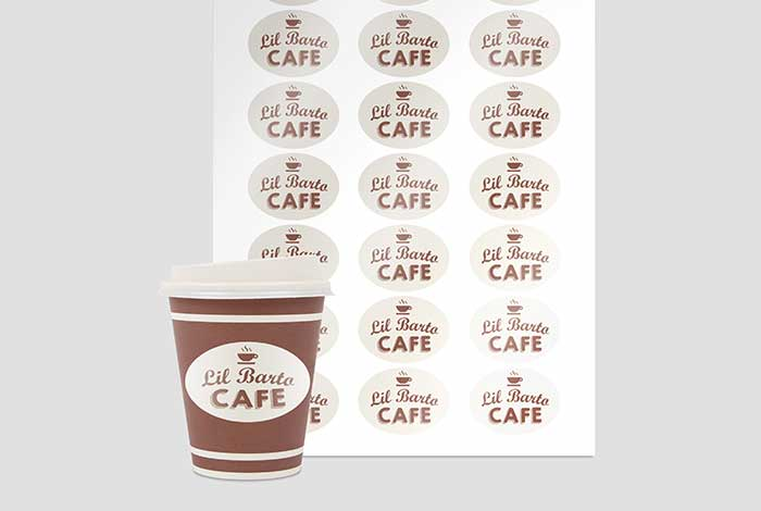 White Paper Labels Oval 50 x 37mm Gloss Finish