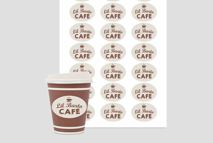 Paper Labels Oval 50 x 37mm Matt Finish