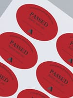 Avery WePrint Oval Red Labels