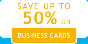 Save up to 50% on Business Cards