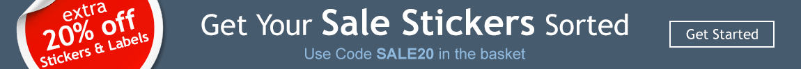 Extra 20% off Stickers and Labels