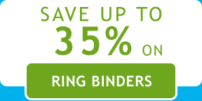 Save up to 35% on Ring Binders