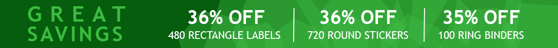 Great Savings on Labels, Stickers, and Ring Binders