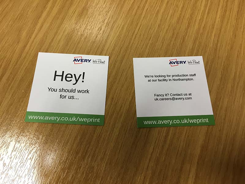 Get recruiting with brand new recruiting business cards