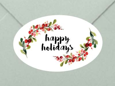Christmas Oval Labels