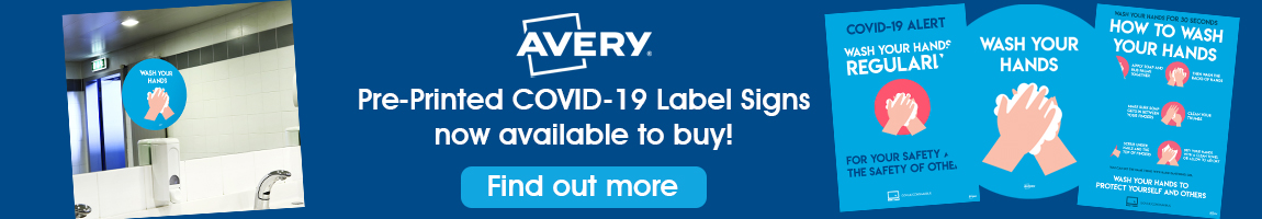 Avery COVID-19 Label Signs