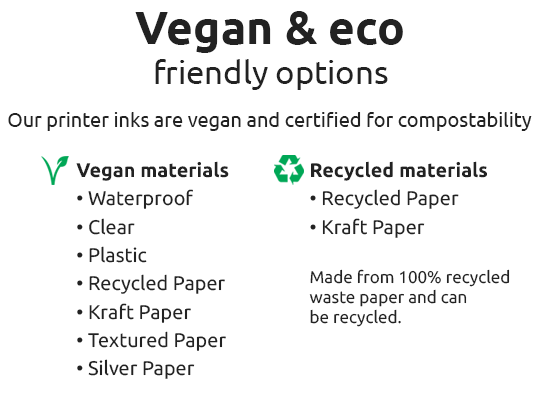 vegan eco label options