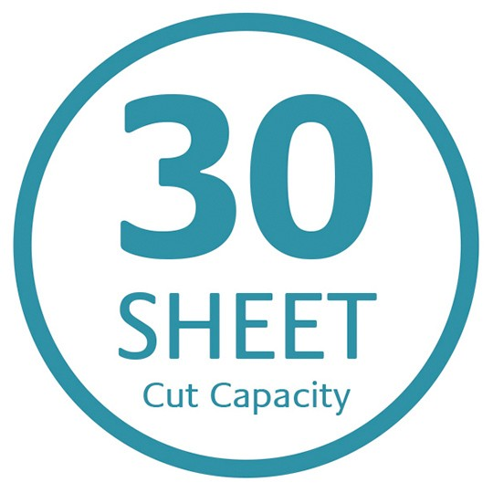 Fact - 30 sheet cut capacity