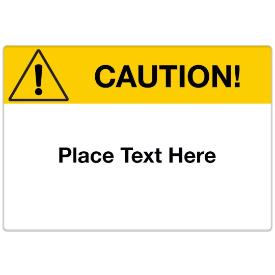 Avery Design Templates For Industrial Environments Avery - Caution sign template