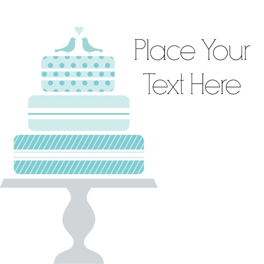 Avery Wedding Cake themed Template design
