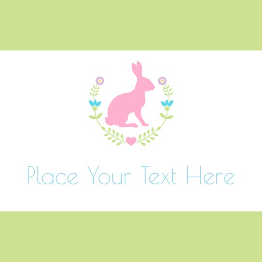 Pink Bunny Template Design for Avery Design & Print