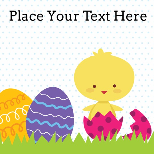 Easter Chick Template Design for Avery Design & Print