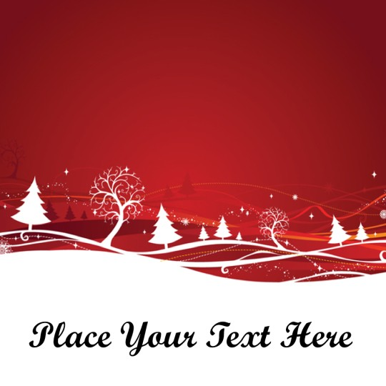 Red Forest Avery Template designs for Christmas