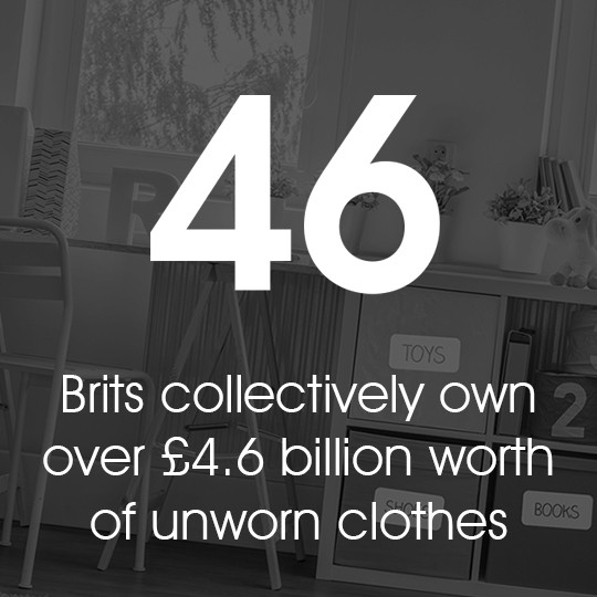 Brits collectively own over £4.6 billion worth of unworn clothes