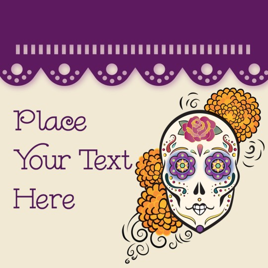 Avery Day of the Dead Halloween Template Design