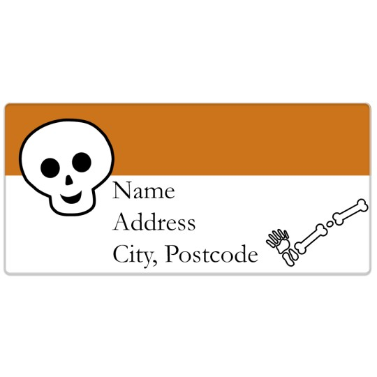 Avery Halloween Skeleton Template Design
