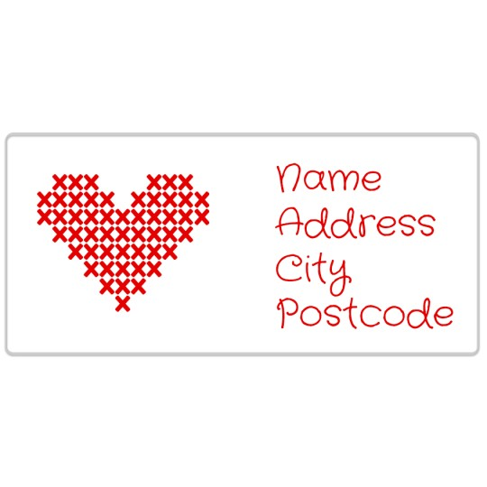 Avery Cross-stitch Valentines Template Design