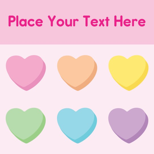Avery Love Hearts Valentines Template Design