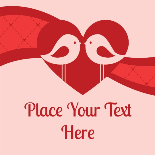Avery Love Birds Valentines Template Design