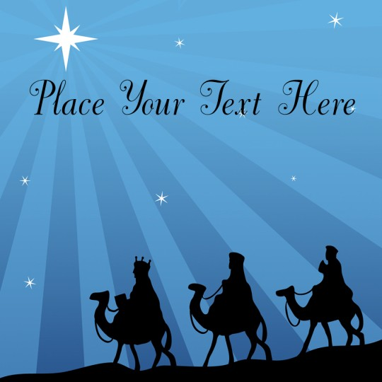 Three Kings Avery Template designs for Christmas