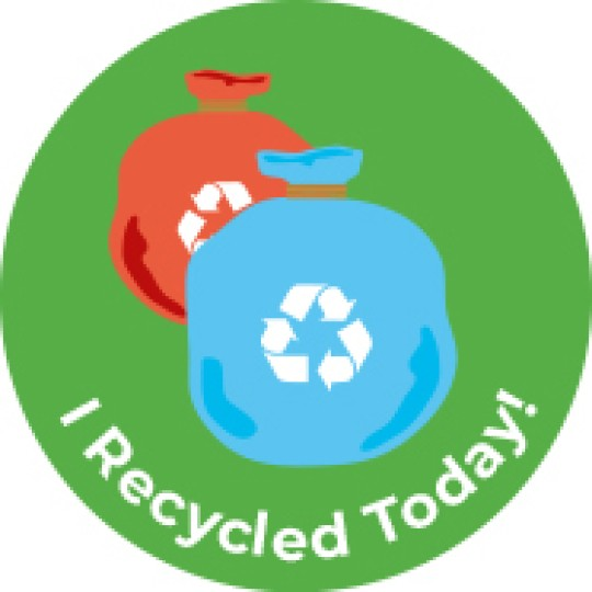 i recycled today