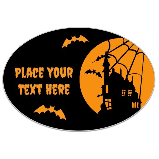 Avery Halloween Haunted House Template Design