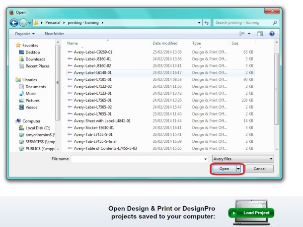opening a zdl file in avery design and print | Avery