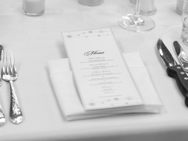 Avery personalised table menus