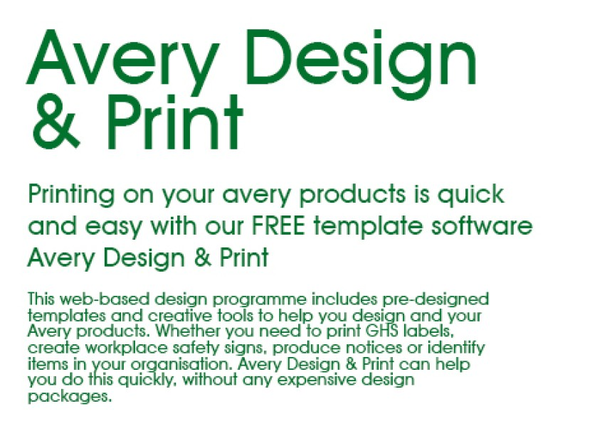Industrial products avery for Design and print avery