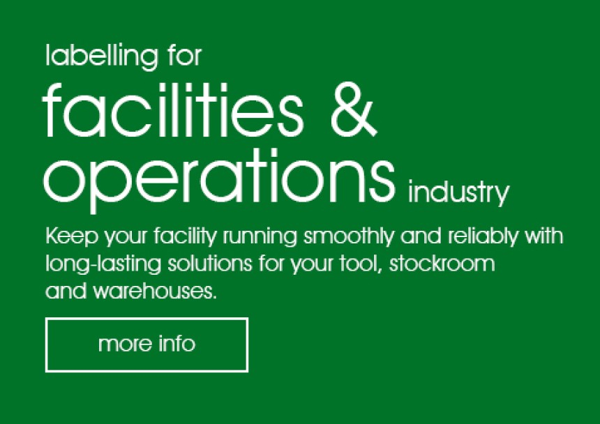 labelling for facilities & operations industries