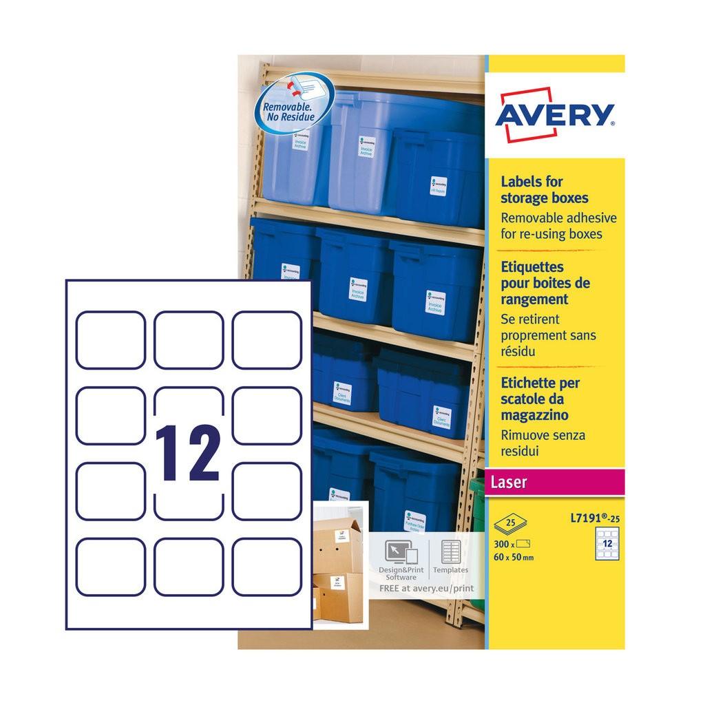 storage box labels l7191 25 avery