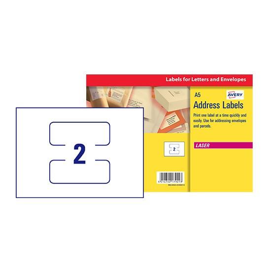 Address Labels   L30063-20   Avery