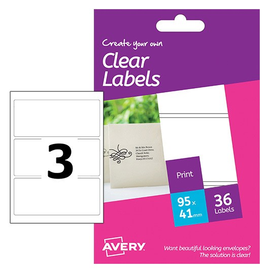 Clear Labels Hcl01 Avery
