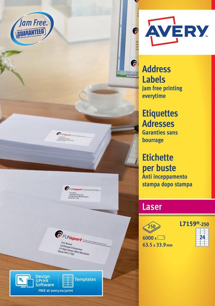 Address Labels L7159 250 Avery