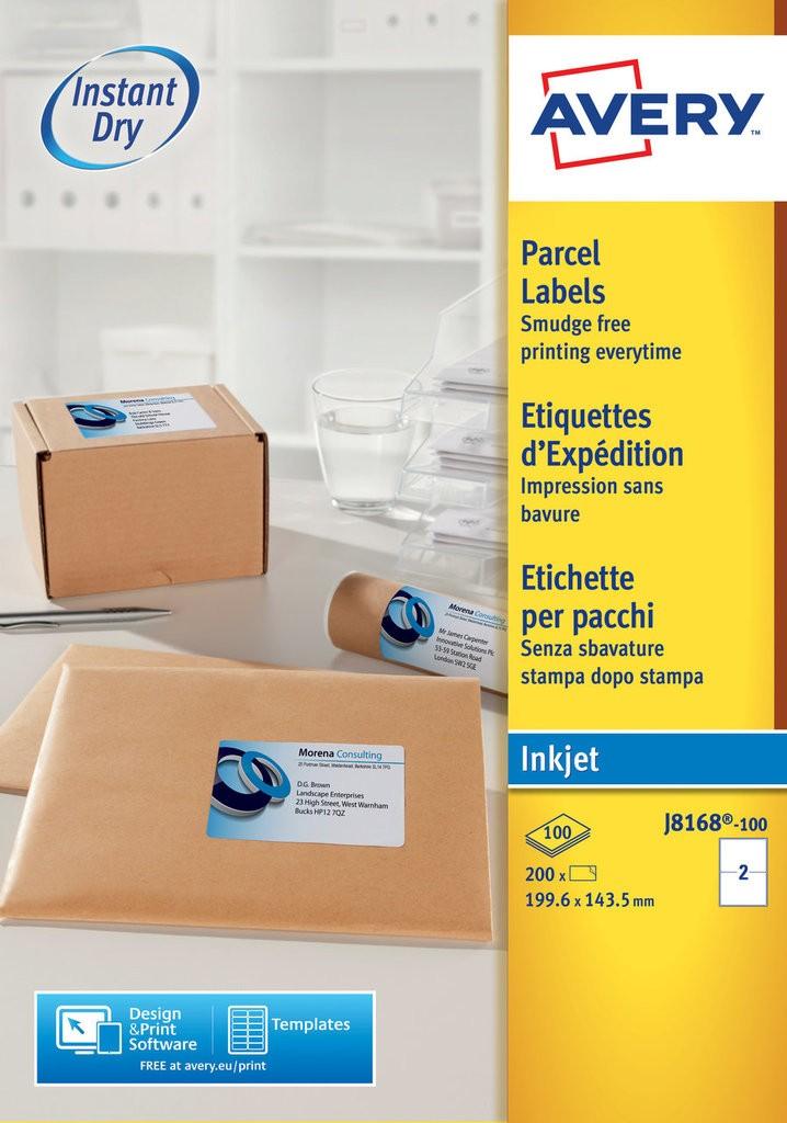 Parcel Labels J8168 100 Avery