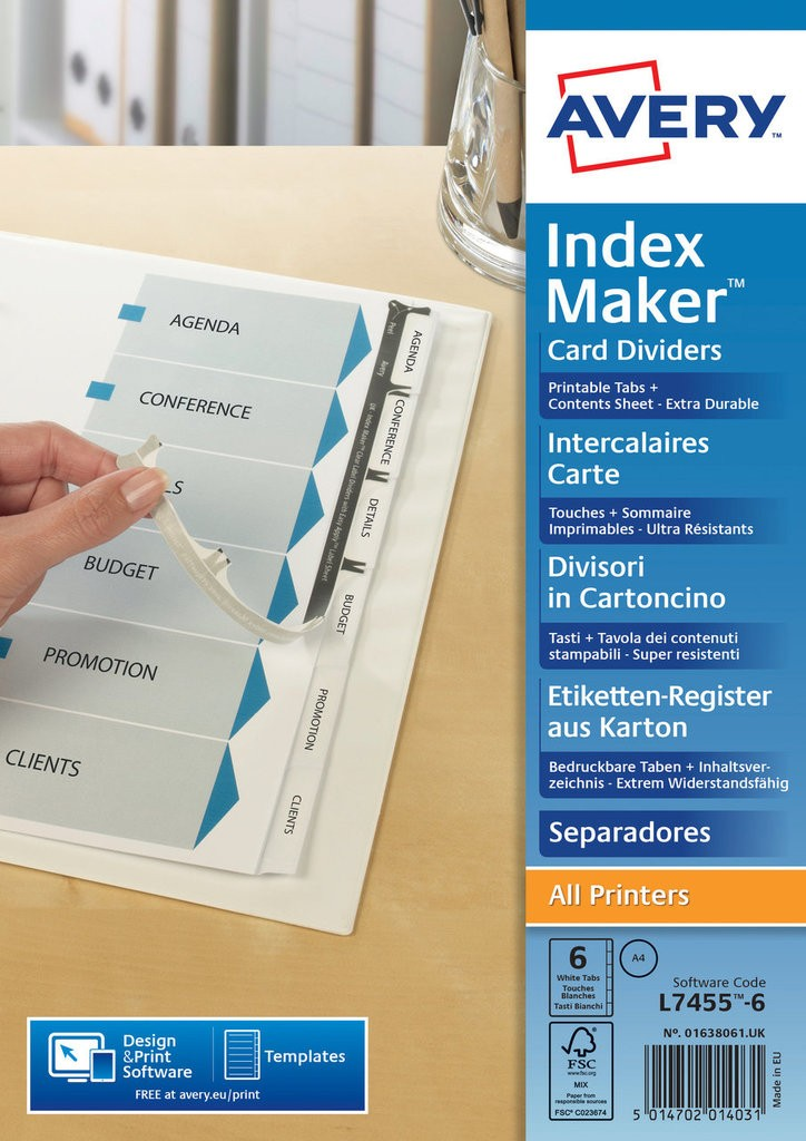 Index Maker Dividers 01638061 Avery
