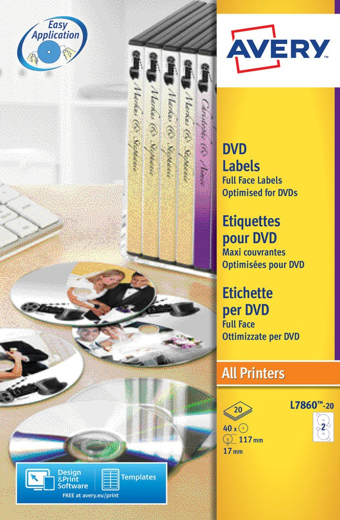 Dvd Labels L7860 20 Avery